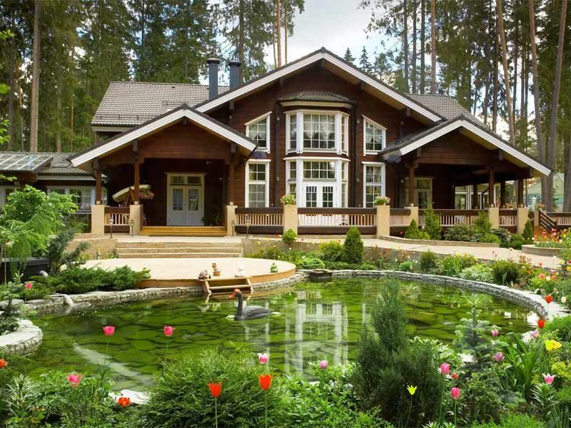 Ландшафт загородного дома