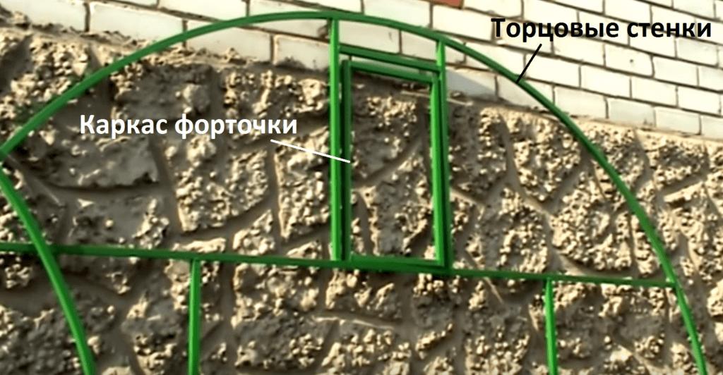 Торцовые стенки и форточка