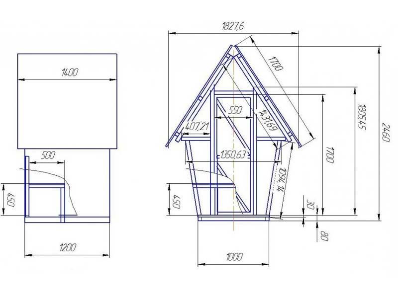 Как построить туалет на даче и сделать правильный чертеж