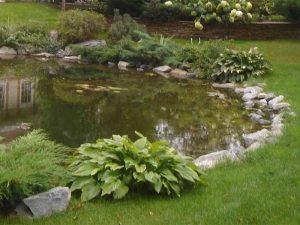Ландшафтный дизайн дачи с искусственным прудом