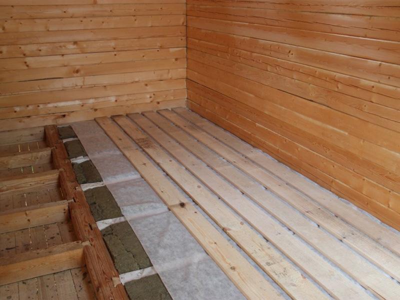 Полы в доме из бруса с утеплением из минеральной ваты
