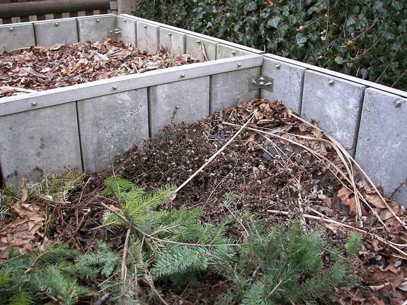 Садовый компост и схема горячего вида удобрения