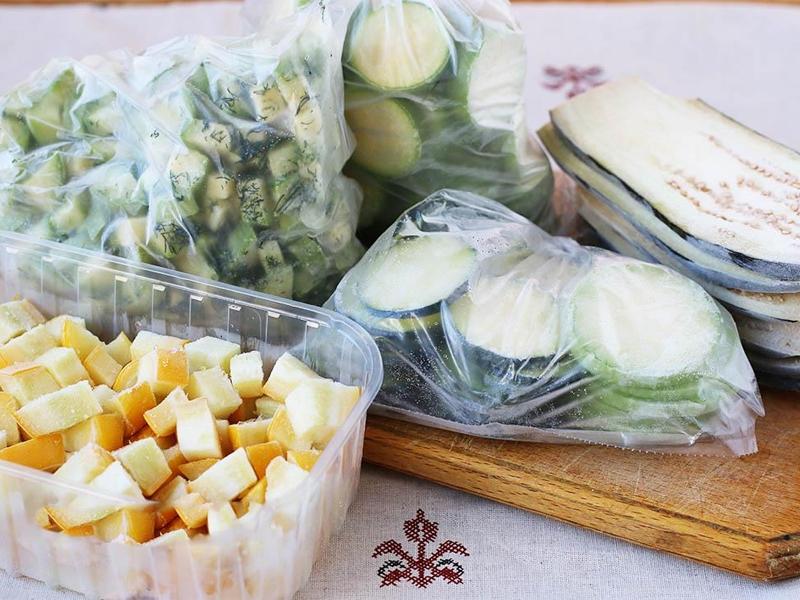 Заморозка баклажан на зиму и как лучше хранить