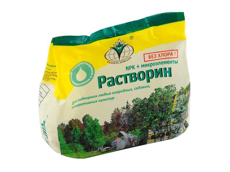 Удобрение «Растворин»: способы применения и польза удобрения
