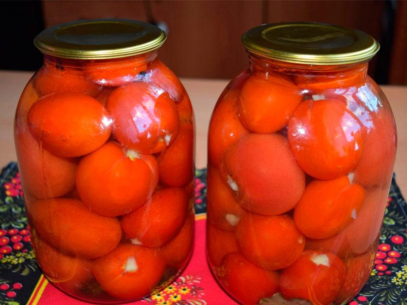 Консервирование соленых томатов